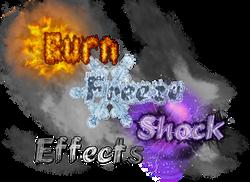 Burn Freeze Shock Effects