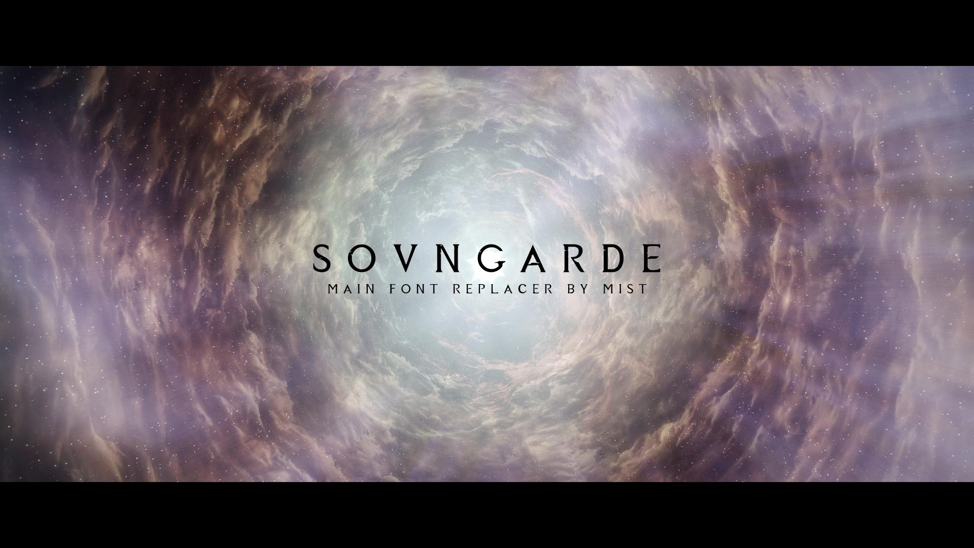 Sovngarde - Mist's Font Replacer