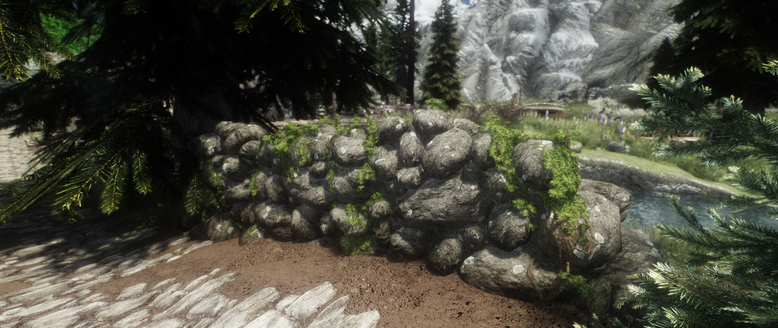 Skyrim Landscape Overhaul - Stone Walls
