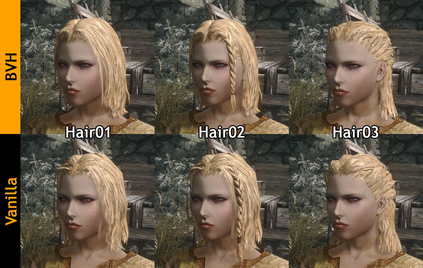 Better Vanilla Hairs
