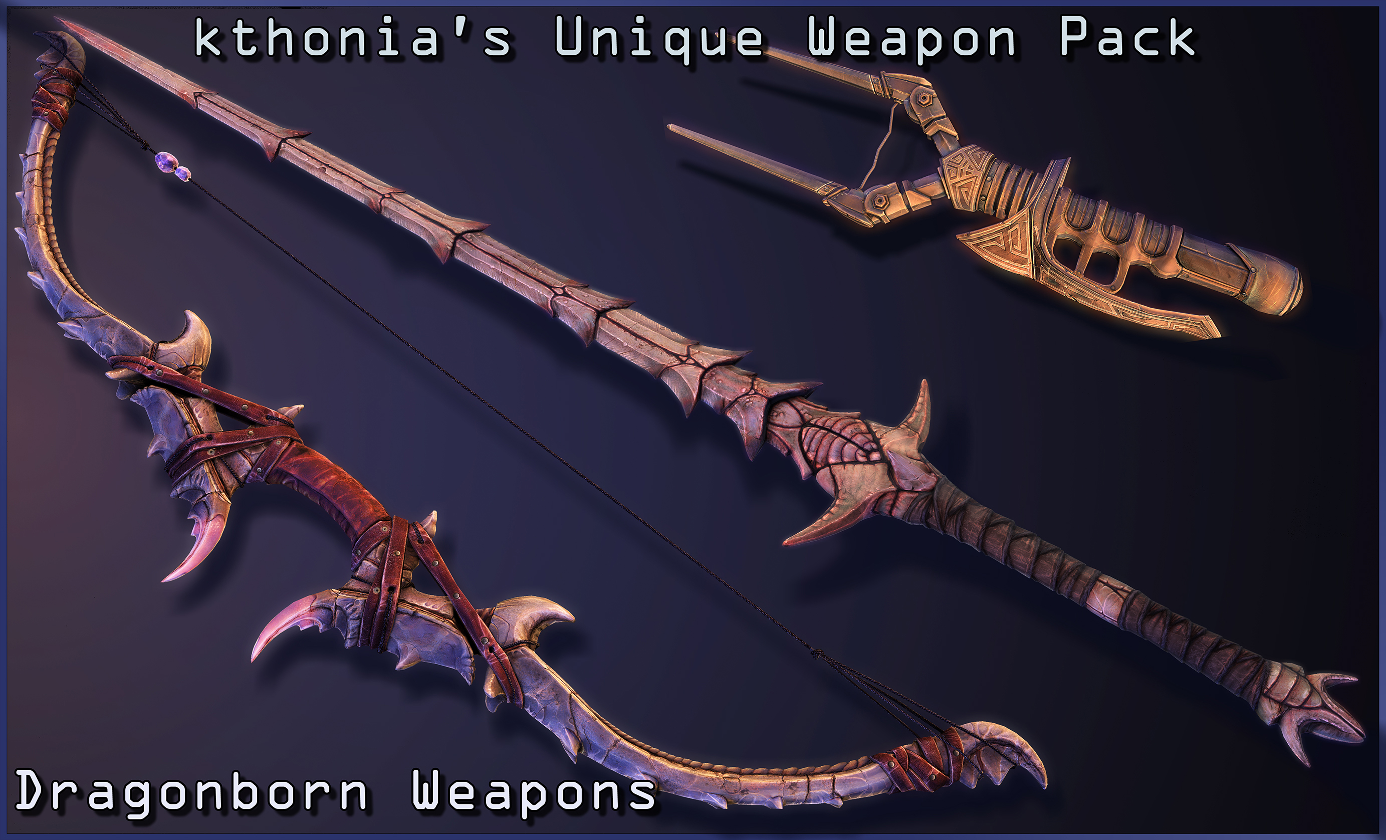 Kthonia's Unique Weapon Pack - Dragonborn Weapons