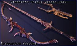 Kthonia's Unique Weapon Pack - Dragonborn Weapons