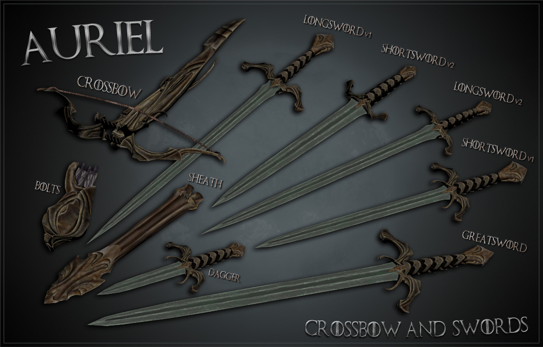 Ghosu - Auriels Crossbow and Swords