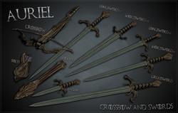 Ghosu - Auriels Crossbow and Swords