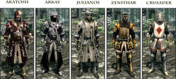 Cleric Armours of the Nine Devines