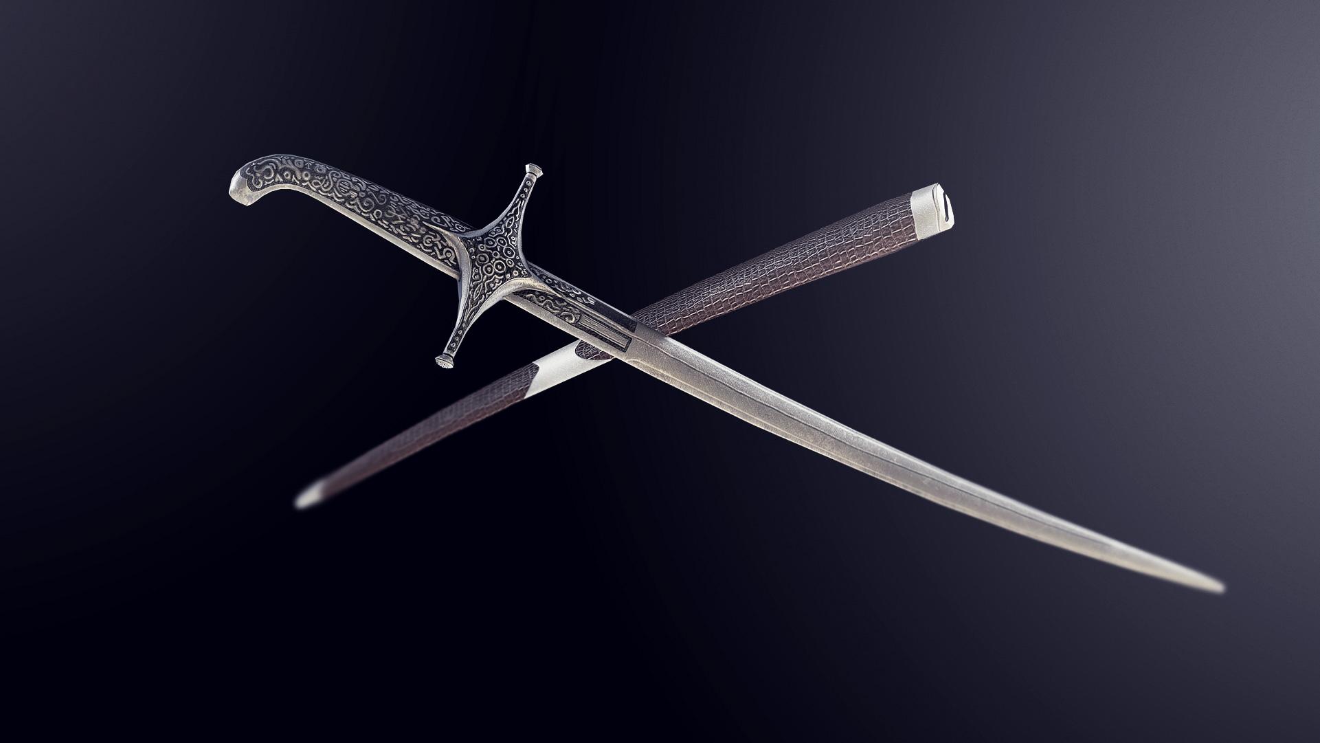 Engraved Shamshir