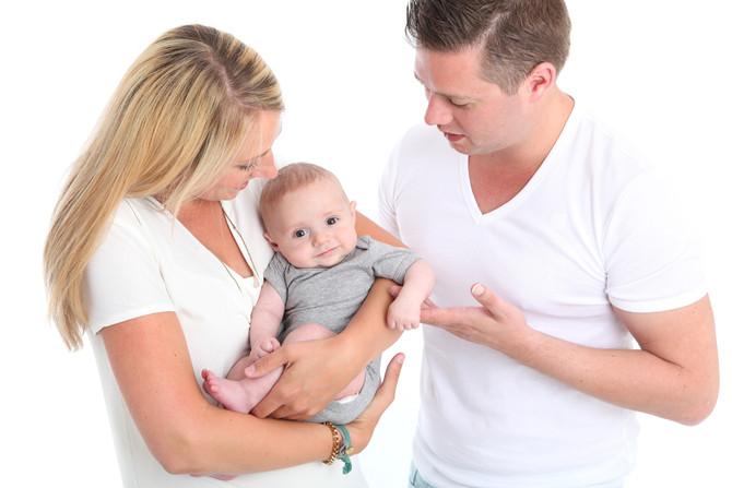 Baby/gezinsshoot in de studio