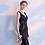 Thumbnail: Valerie Sparkler Sequin V Neck Dress in Black