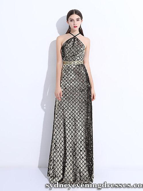 Emerson Halter Formal Dress in Black