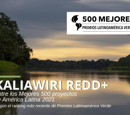 KALIAWIRI REDD+ es destacado entre los 500 mejores proyectos de América Latina