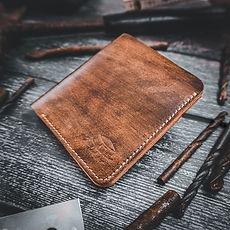 Slim Wallet, Leder ,Braun