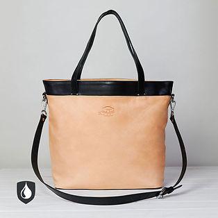 Damenhandtasche, Leder, Ökoleder