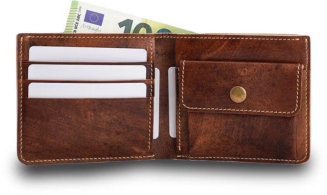 Geldbörse, Leder, Herren, im Sale, Angebot