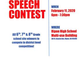 RUSD 2nd Annual Speech Contest