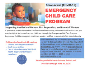Coronavirus (COVID-19) Emergency Child Care Program