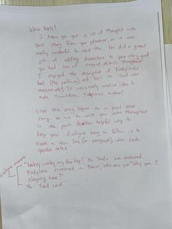 Writing Workshop 6 Part  3 - Feedback