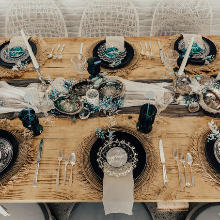 Coastal Wedding Table Setting