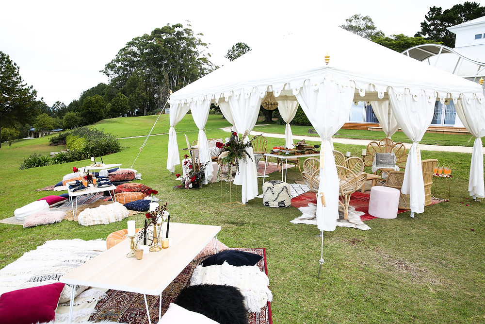 Marquee event by Brisbane event and wedding stylists Harper Arrow