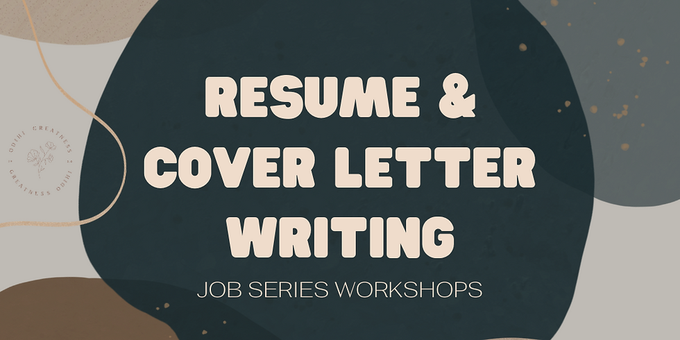 Resume and Cover Letter Writing Workshop