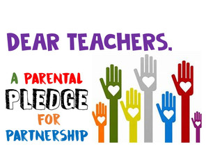 Dear Teacher: A Parental Pledge for Partnership