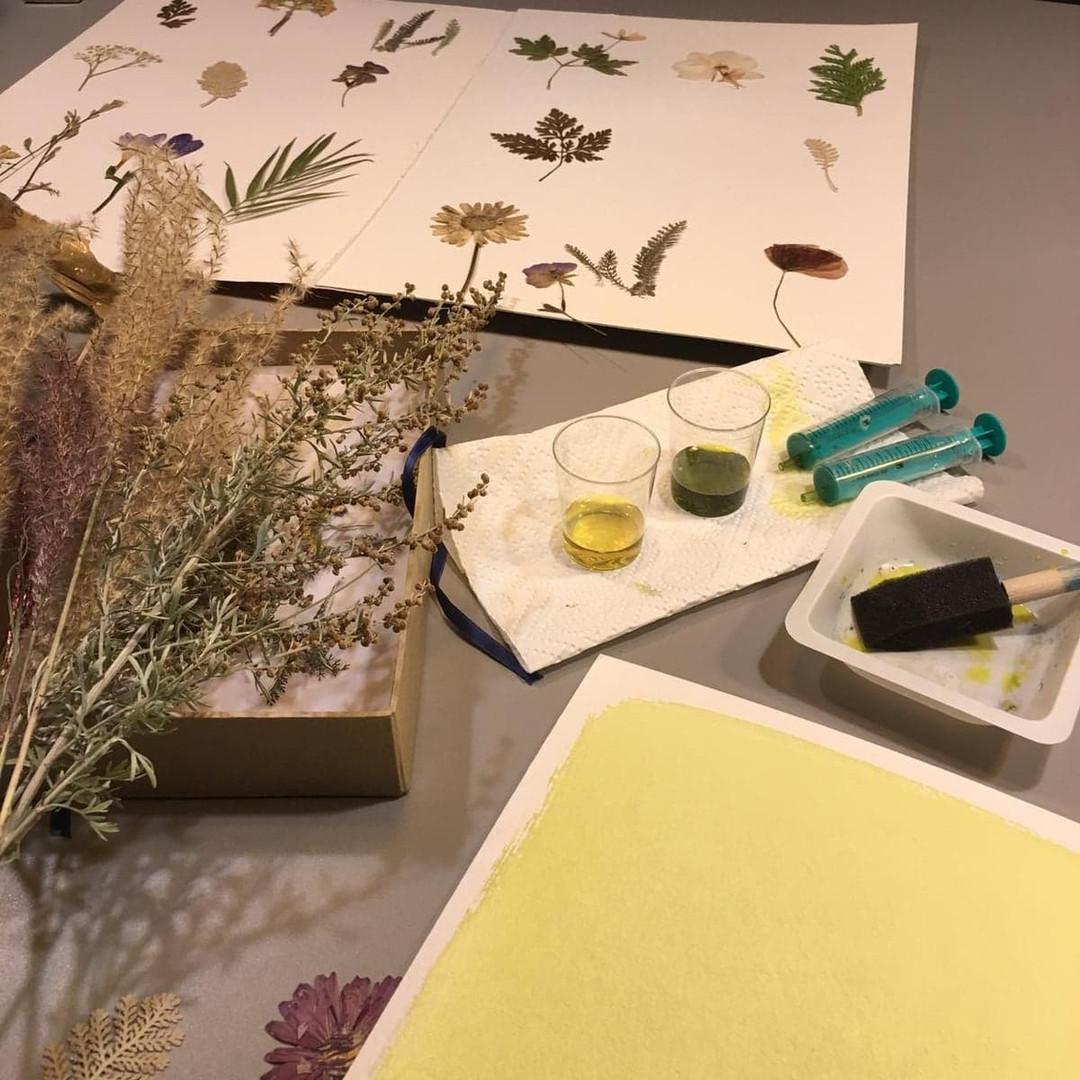 Processus de la cyanotypie - Carasco