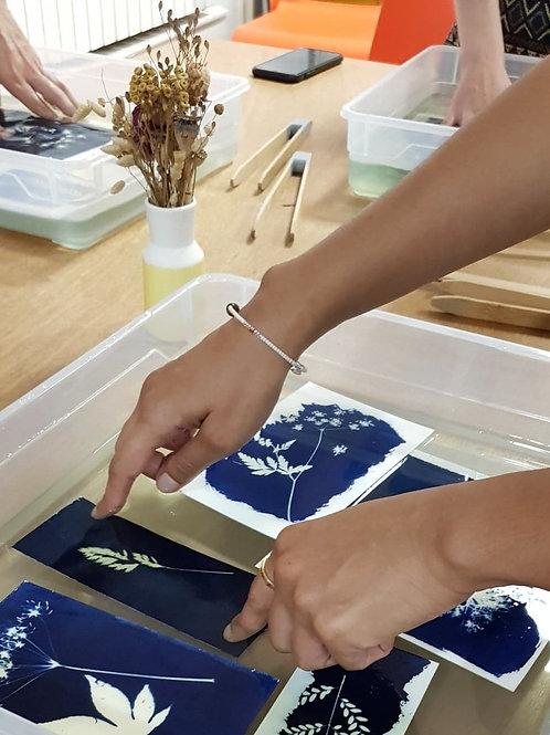Atelier cyanotype - Samedi 21 août - 14h à 17h