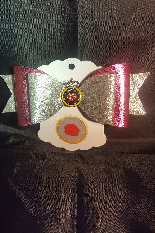 """Bella Bows """"Icy Silver and Pink"""""""