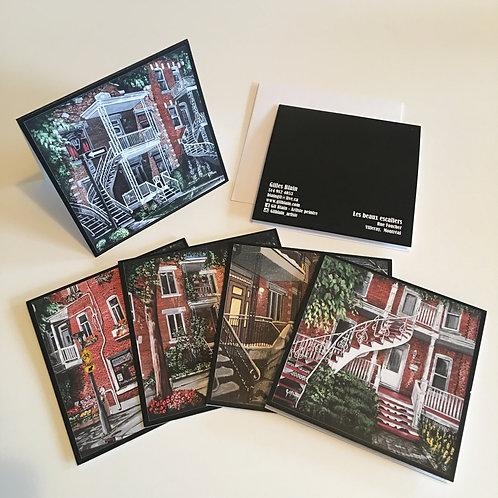 5 cartes de souhaits : paquet #1