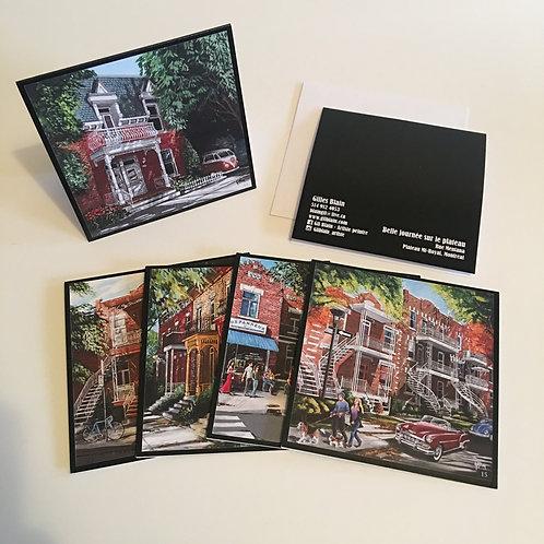 5 cartes de souhaits : paquet #3