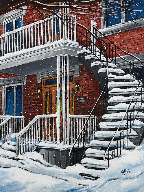 Douce neige après tempête