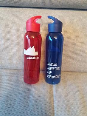 Drinkfles blauw en rood