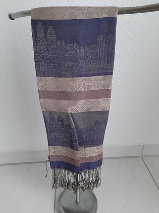 Wunderschöner Schal Angkorwat 100% Silk Cambodia