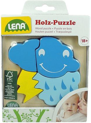 Lena Holzpuzzle 4 teilig Wolke 14x18cm