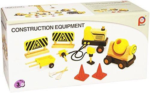 K..117) Construction Betonmischer Baustellenset Holz
