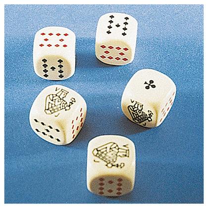 K..10/K..54) Carlit Pokerwürfel 5er Set