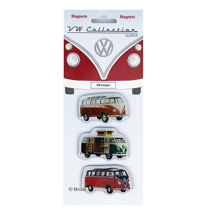 VW T1 BUS MAGNET 3er SET IN SICHTVERPACKUNG - CAMPER