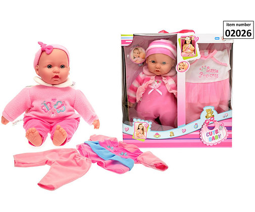 Puppe im Geschenkset 40 cm Puppe