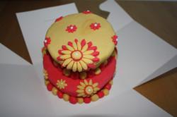 Blumenschokoladentorte