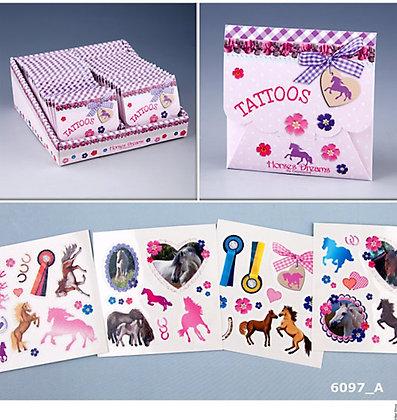 Pferde Tattoos Set im Umschlag