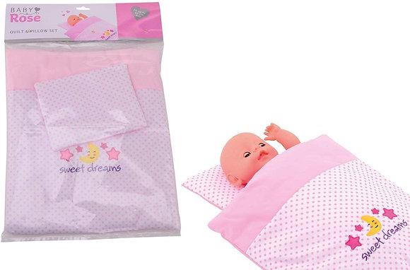 Puppe Decke und Kissen Set 32x50cm