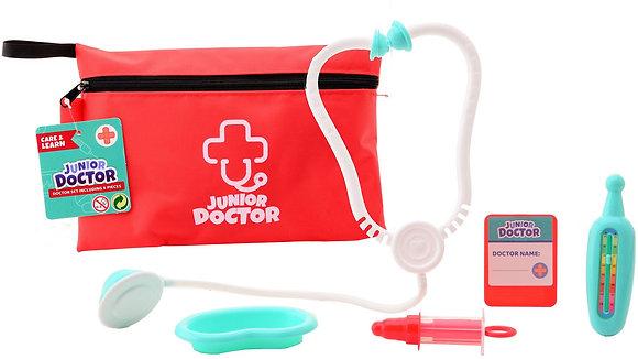 K..136) Doktorspielset in 6 Teiliger Tasche