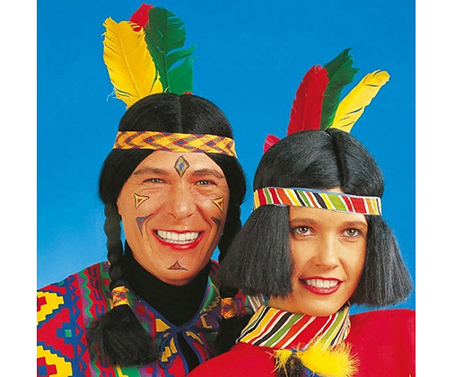 K..1) Perücke Indianer