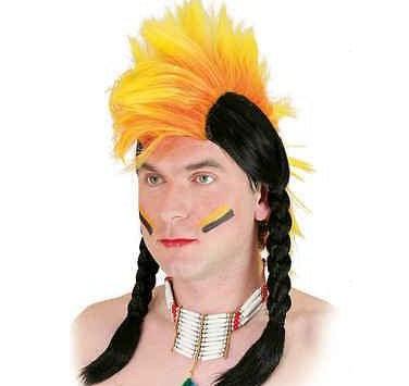 K..1) Irokese / Indianer Perücke