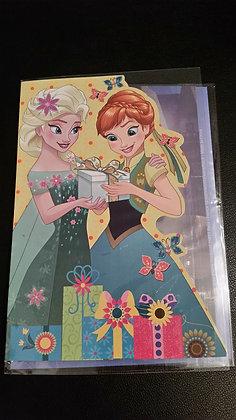 K..23) Disneykarten mit Glitter-Schutz