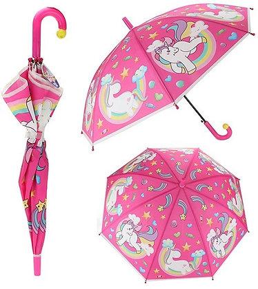 K..116) Regenschirm Einhörner 80 Durchmesser Automatik