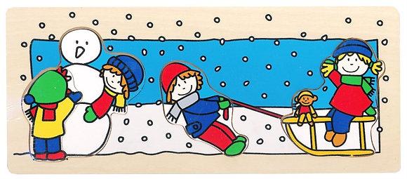 K..35) Puzzle Schnee