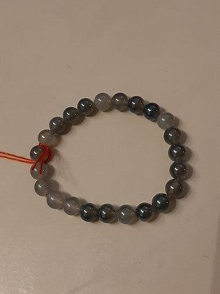 Achat Grey Aura Armband