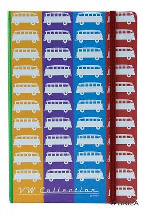 VW Bulli Notizbuch - farbig