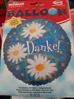 K..11) Ballon Danke - Folienballon