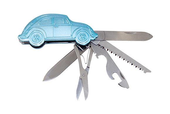 VW Käfer 3D Taschenmesser in Geschenkdose Blau